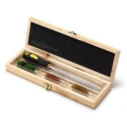 Kit de limpieza en caja de madera para armas de calibre 12 lp012