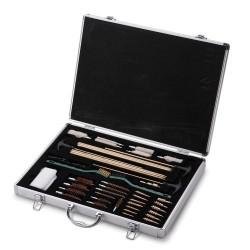 Kit de limpieza de más de 35 piezas en maletín de acero inoxidable para armas de distinto calibre lp018