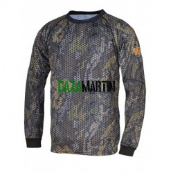 "491 Camiseta técnica ""forest print"" - manga larga - camuflaje"