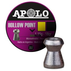 BALINES APOLO HOLLOW POINT 4,5MM