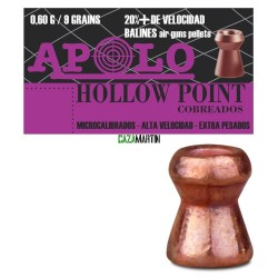 BALINES APOLO COPPER HOLLOW POINT 4,5 MM